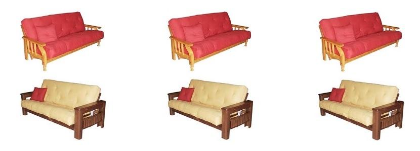 Futones de 1, 2 y 3 cuerpos, en guatambú, alamo, pino, futones en ...
