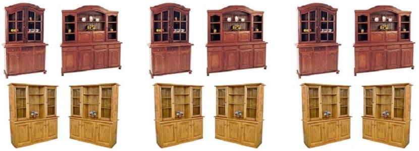 Modulares con cristalero modulares con puertas y cajones for Muebles comedor modulares