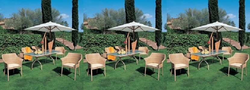 Muebles de jard n reposeras sombrillas mesas para for Muebles plastico jardin